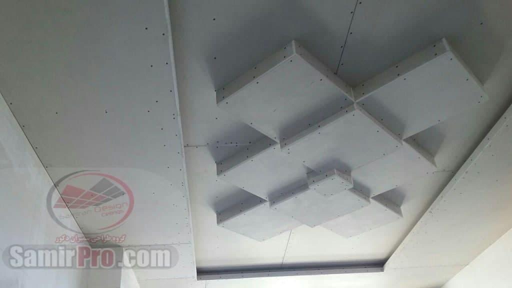رنگ آمیزی سقف کاذب کناف