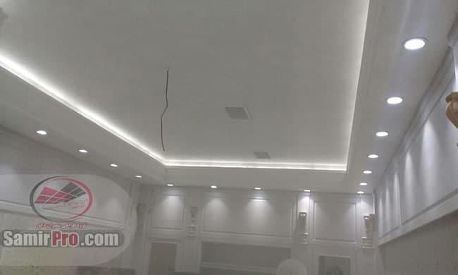 سقف کناف مغازه | دکور سقف دفتر کار