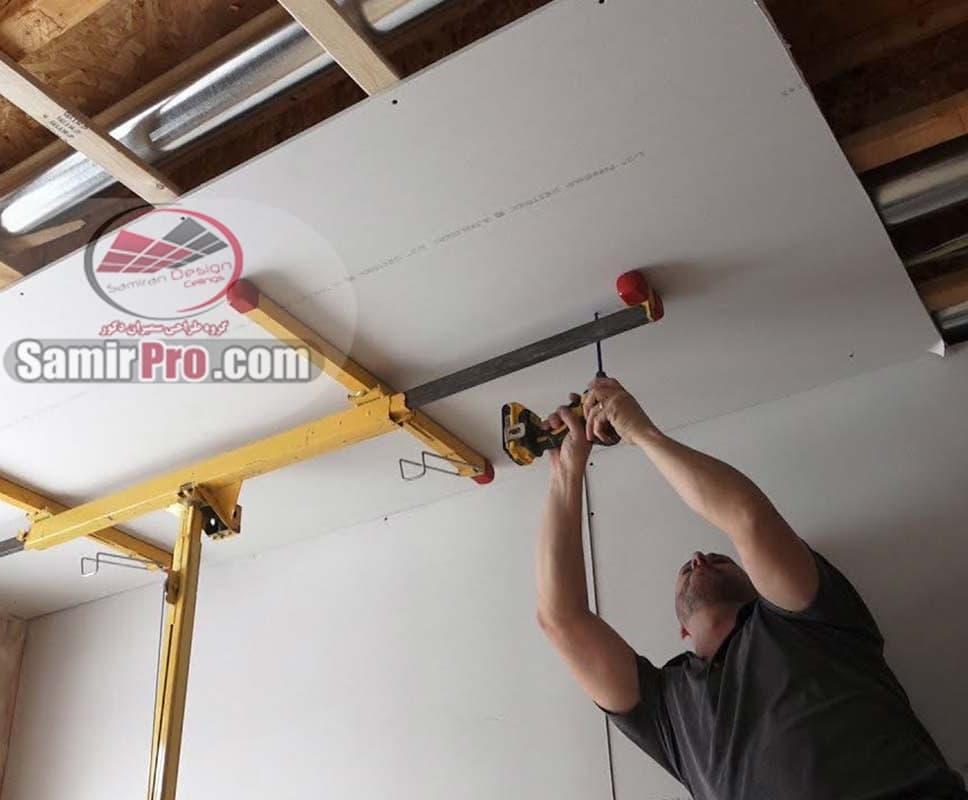 نصب سقف کاذب شبکه ای