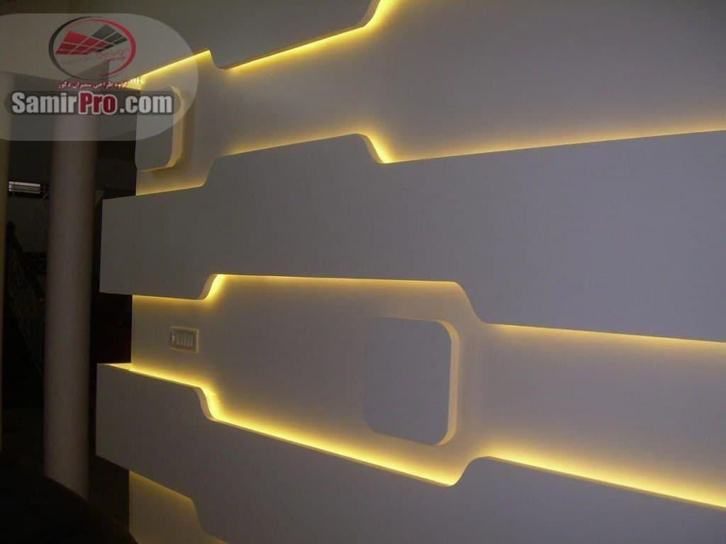 دیوار کاذب کناف با نورمخفی