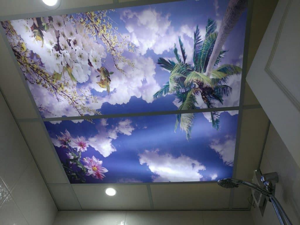 سقف آسمان مجازی برای حمام