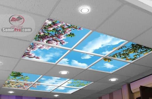 سقف آسمان مجازی سالن آرایشی