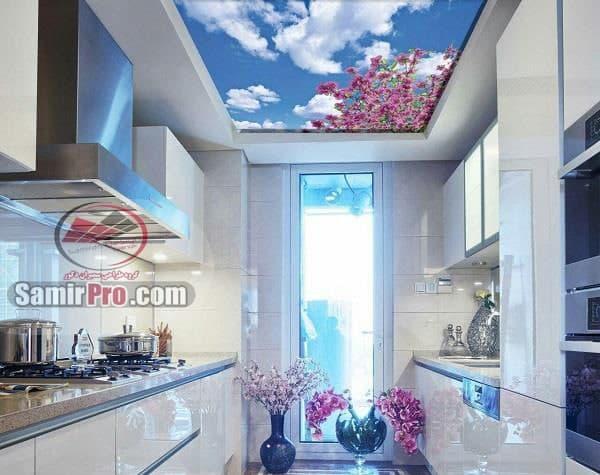 طرح آسمان مجازی برای آشپزخانه