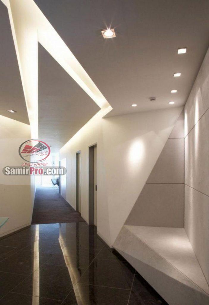 سقف کناف با نورپردازی