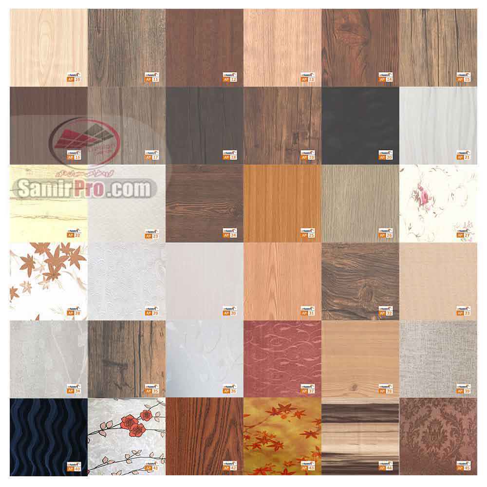 طرح های طرح چوب pvc