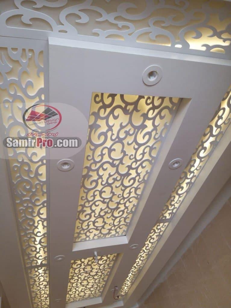 کناف سقف پذیرایی ترکیبی CNC