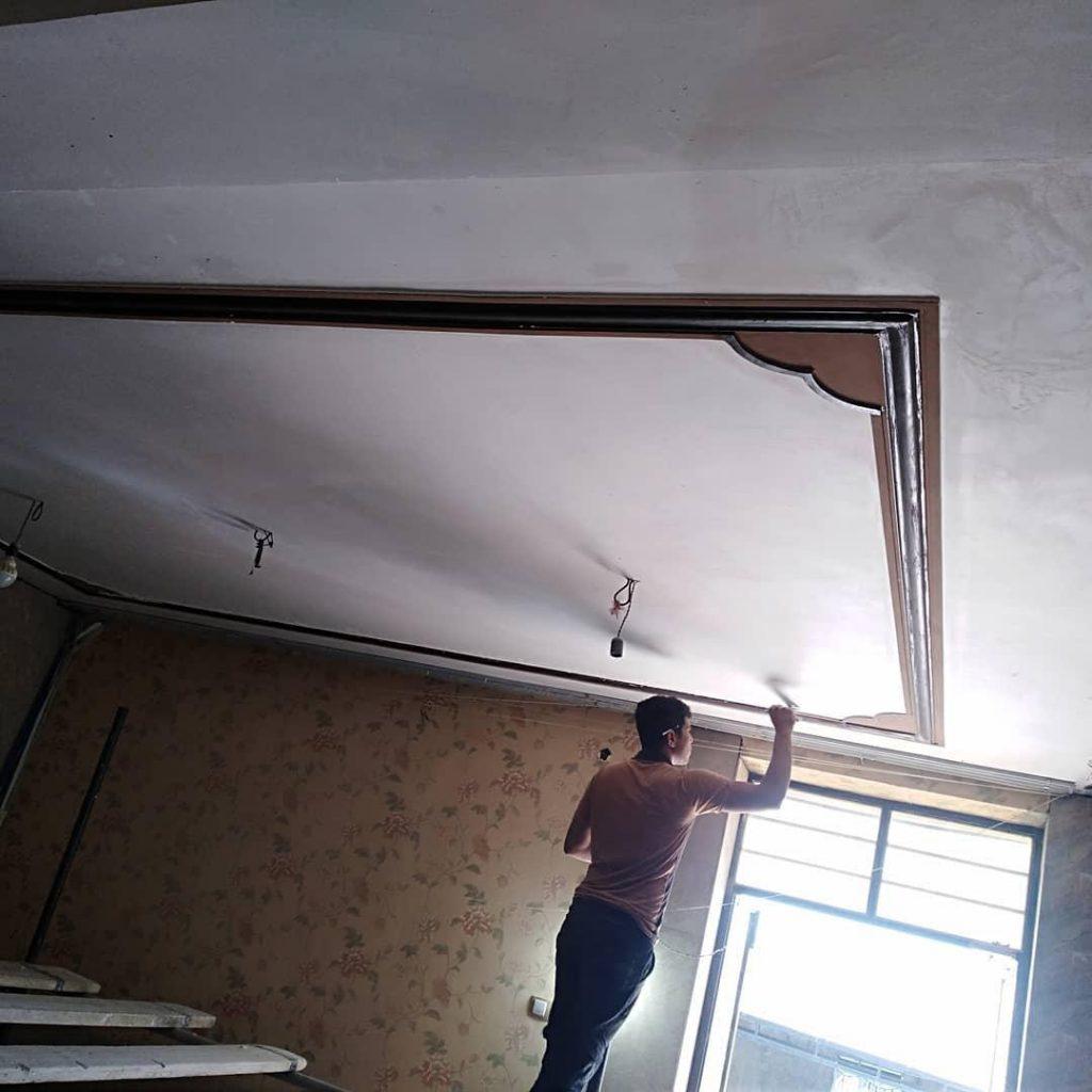 کناف سقف پذیرایی ساده