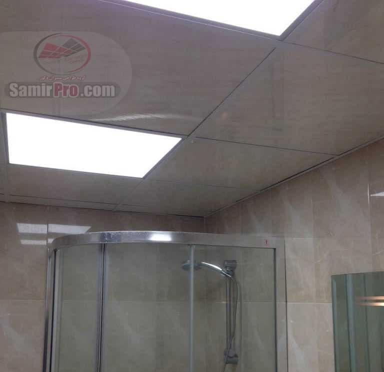 اجرای سقف حمام با نورپردازی