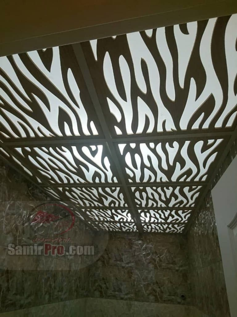 سقف کاذب طرحدار حمام
