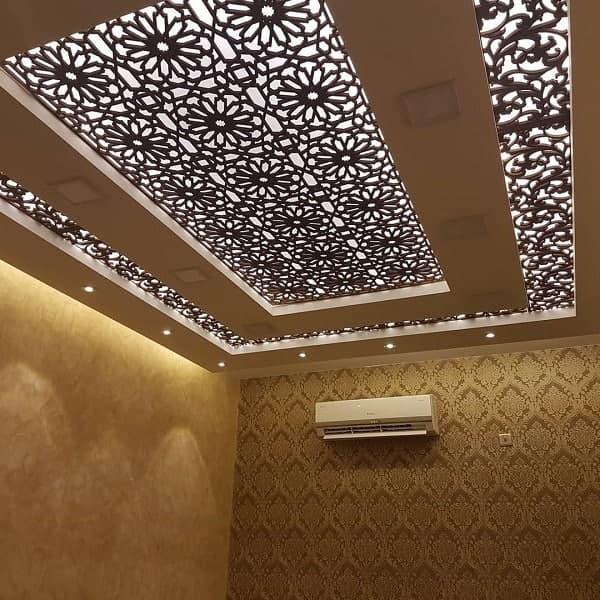 ترکیب سقف کاذب معرق و کناف آشپزخانه
