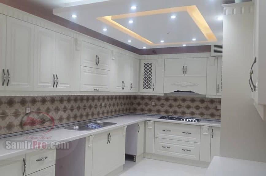 سقف کناف و نورپردازی آشپزخانه