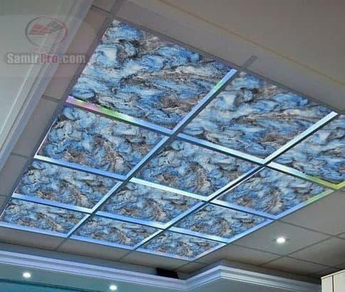 سقف کاذب گلس رنگی